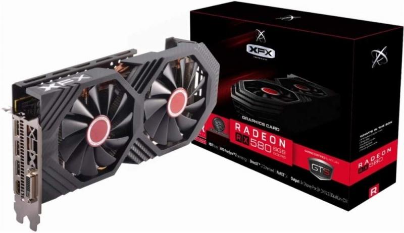 کارت گرافیک ایکس اف ایکس RX-580P8DBDR Radeon RX 580 GTS Black Edition 8GB OC+ Graphics Card