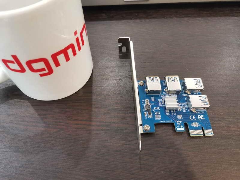 کارت توسعه PCIe 1  to 4