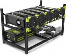 ریگ ماینینگ 6Riser+CPU G5420 + 8GB Ram + Asus B360 Mining + Frame + 300 +2000Watt Power [50% پیش پرداخت و مابقی در زمان تحویل]